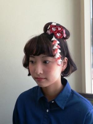成人式ショートヘアのアレンジスタイル