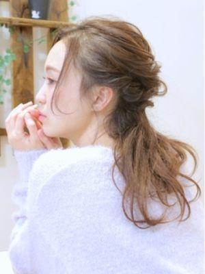 シースルーウェーブのドライウェットスタイル☆アレンジ☆