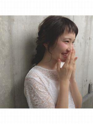 アーバンアレンジ☆ショートバング☆あみおろしスタイル