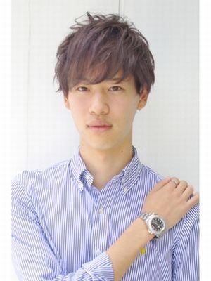 【透け感】ダークグレーアッシュ★2ブロックスイングマッシュ