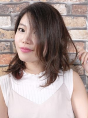 【モードネイビー】美髪×ミディアム☆