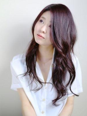 「髪が綺麗に見える」アッシュヴァイオレット