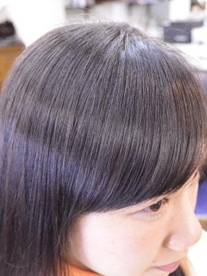 髪質改善縮毛矯正(流れる前髪)