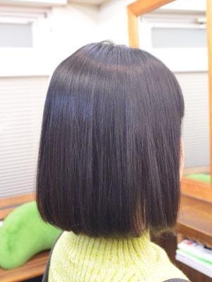 髪質改善縮毛矯正(内巻きボブ)