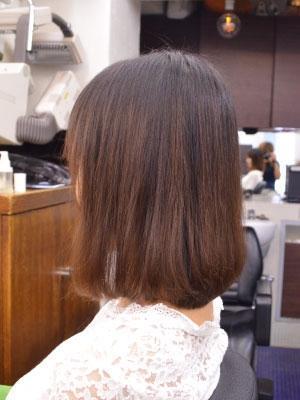 髪質改善縮毛矯正(チリチリ傷んだ髪をまともなスタイルに)