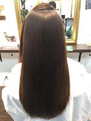 BIKAKU縮毛矯正でツヤ髪×グレージュブラウン
