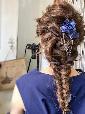 結婚式お呼ばれヘア。