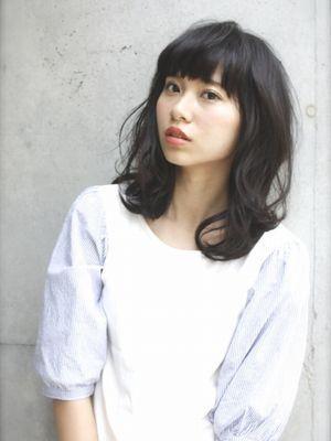 *黒髪ミディ*