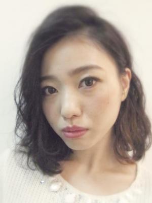 長谷川潤さん風☆かき上げ前髪 こなれ感ある大人の女性 ロブ