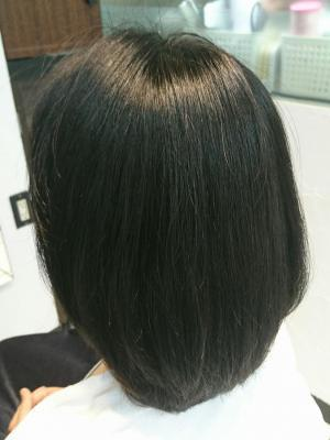 ノンアイロン弱酸性縮毛矯正エアーストレート