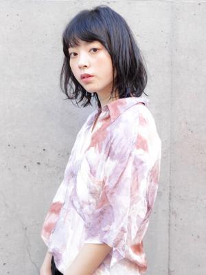 《NORAサトウ》黒髪にピッタリの無造作ワンカールスタイル☆