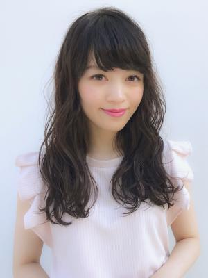 NORA【野崎小知子】黒髪パーマ×大人可愛いふわミディ♪