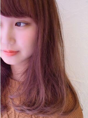 ピンクアッシュグラデーションカラー☆by徳田大輔