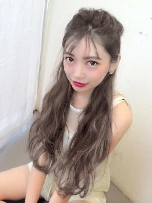 【Real遠藤眞実】イルミナグレージュカラー☆フリンジバング