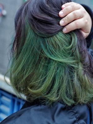 緑のインナーカラー