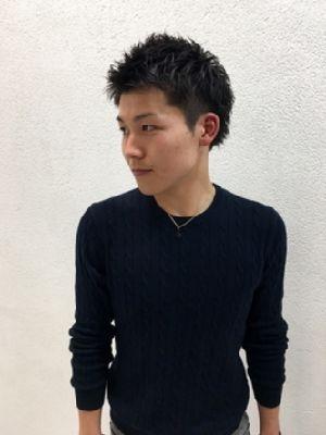 汐見悠佑 アップバングメンズショート