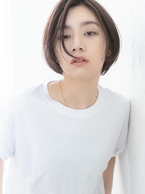ショートヘア黒髪暗髪ワンレンボブショートボブ10代20代
