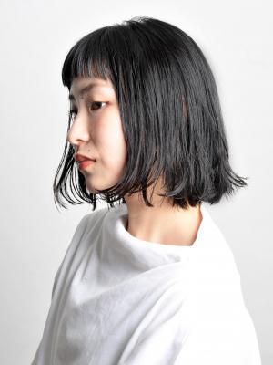 ショートバング × 切りっぱなしボブ【FIRST】