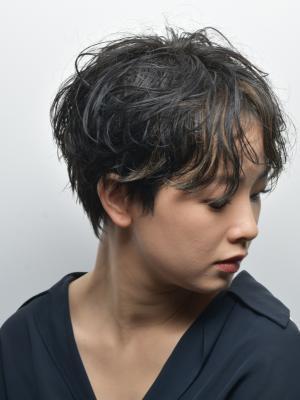 [FIRST] ショートハイライト×大人アッシュ<濱田正一>