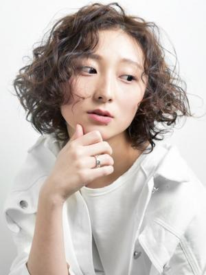[FIRST]大人カーリーパーマ×ハイライト <中屋信吾>