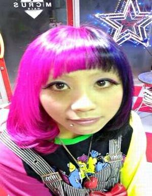 3色MIXラウンド☆ミディアムボブ