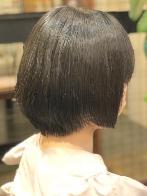自然な仕上がり縮毛矯正スタイル ボブ