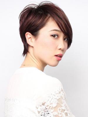美フォルム春のショートヘア×3Dカラー