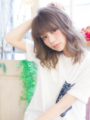 イマドキ女子☆ミルクティーカラー姫カットミディアム