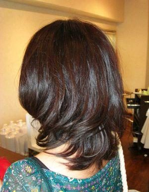 巻き髪風ナチュラル