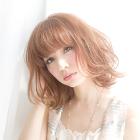 前髪カット+カラー