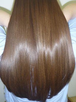 M3D縮毛矯正によるツヤツヤロングヘア