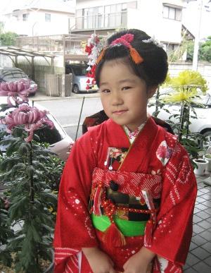 日本髪(七五三)