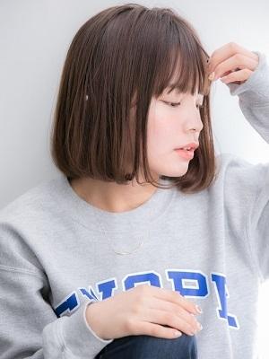 ラフな抜け感が可愛い☆小顔ボブ☆前下がり(しおん)