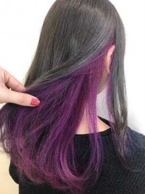 紫インナーカラー☆三都季