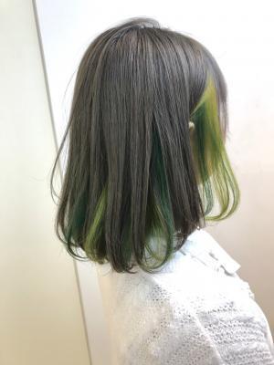 2色のグリーンユニコーンインナー☆