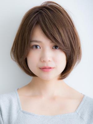 ひし形フォルムのナチュラルフェミニンショート☆