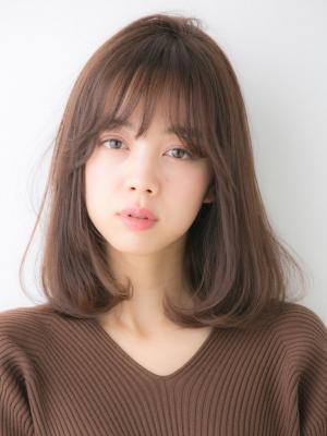 【Euphoria】Aラインワンカール+大人シースルーバング