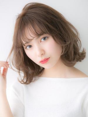 【Euphoria 金沢】甘めカールの柔らかセミディ♪