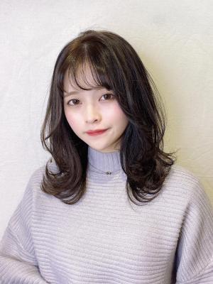 10代20代☆韓国風シースルー外はねミディ♪【担当 金沢】