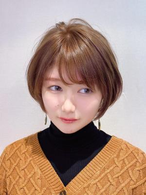 20代30代☆大人可愛いひし形ショートボブ♪【担当 金沢】