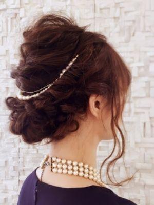 ルーズくるりんぱ編み込みヘアセット