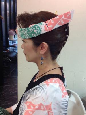お祭りヘアー