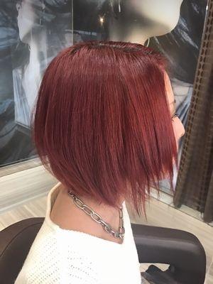 ディープレッド_hair make FOX