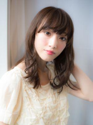 夏→秋 小顔 遊びベビーバングナチュラルミディ @梅田