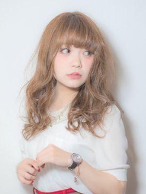 夏カラー×厚めバング@梅田