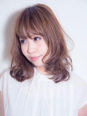 ☆秋冬は透けバングな前髪とラテカラーでアンニュイ女子☆@梅田
