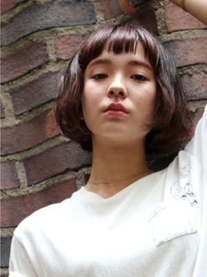 シンプルスクエアショートバングボブ【表参道drop舘洞】