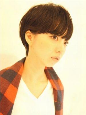黒髪クールタイトショート【表参道/青山 drop】