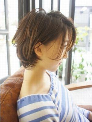 長めバングランダムカール透明感ショート【表参道drop】