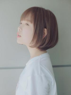 シースルー☆とろみ小顔ショートボブ☆